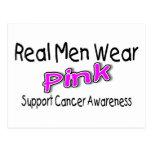 Conciencia real del cáncer del rosa del desgaste d tarjetas postales