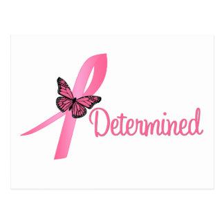Conciencia resuelta del cáncer de pecho tarjeta postal