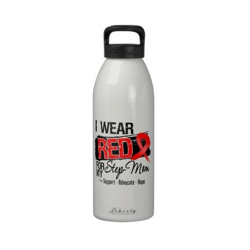 Conciencia roja de la cinta - madrastra botellas de beber