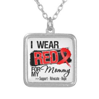 Conciencia roja de la cinta - mamá colgante cuadrado