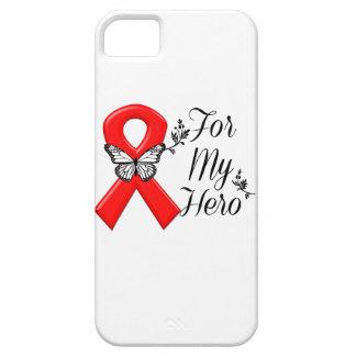 Conciencia roja de la cinta para mi héroe funda para iPhone SE/5/5s