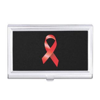 Conciencia roja del SIDA de la cinta Cajas De Tarjetas De Negocios
