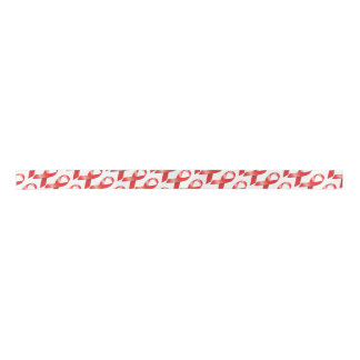 Conciencia roja del SIDA de la cinta Lazo De Raso