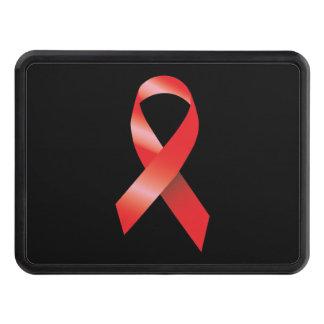 Conciencia roja del SIDA de la cinta Tapas De Remolque