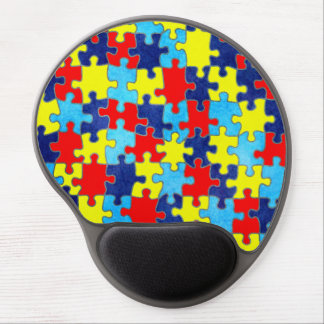 Conciencia-Rompecabezas del autismo de Shirley Alfombrilla Con Gel