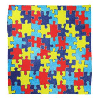 Conciencia-Rompecabezas del autismo de Shirley Bandanas