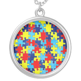 Conciencia-Rompecabezas del autismo de Shirley Colgante Redondo