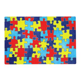 Conciencia-Rompecabezas del autismo de Shirley Tapete Individual