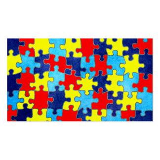 Conciencia-Rompecabezas del autismo de Shirley Tarjetas De Visita