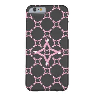 Conciencia rosada del cáncer de pecho de la cinta funda barely there iPhone 6