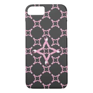 Conciencia rosada del cáncer de pecho de la cinta funda iPhone 7