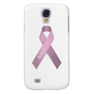 Conciencia rosada del cáncer de pecho de la cinta funda para galaxy s4