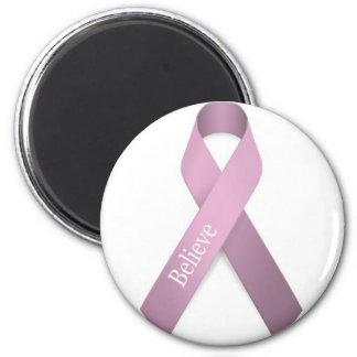 Conciencia rosada del cáncer de pecho de la cinta imán redondo 5 cm