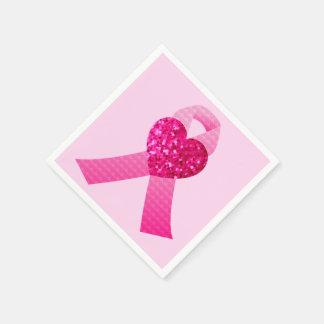 Conciencia rosada del cáncer de pecho de la cinta servilleta desechable