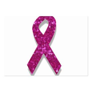 conciencia rosada del cáncer de pecho de la tarjetas de visita grandes