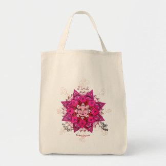 Conciencia rosada - tote orgánico del ultramarinos bolsa tela para la compra