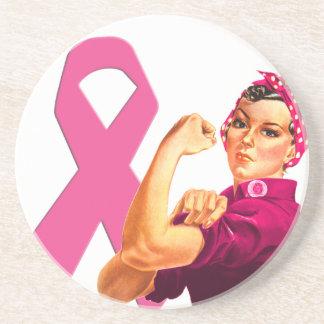 Conciencia Rosie del cáncer de pecho el remachador Posavasos Para Bebidas
