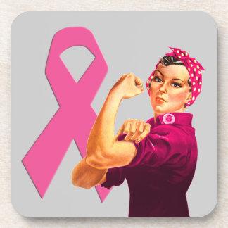 Conciencia Rosie del cáncer de pecho el remachador Posavasos De Bebidas