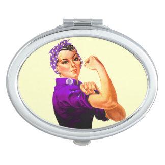Conciencia Rosie del Fibromyalgia el remachador Espejo De Viaje