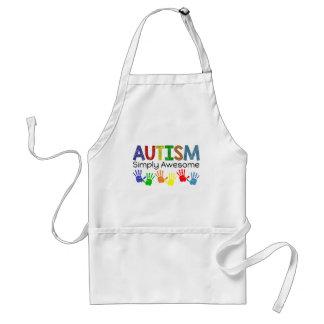 Conciencia simplemente impresionante del autismo delantal