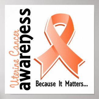 Conciencia uterina 5 del cáncer posters
