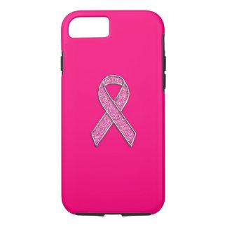 Conciencia vibrante de la cinta del rosa del funda iPhone 7