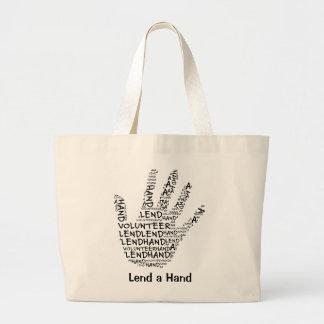 Conciencia voluntaria: Preste una mano amiga Bolsa Lienzo