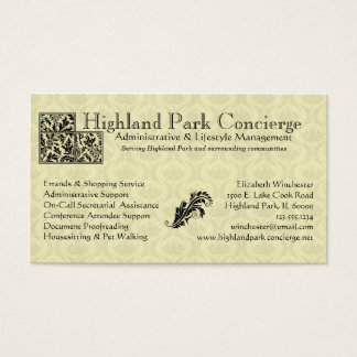 Concierge Business Card