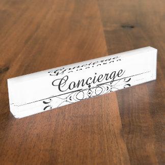 Concierge Desk Name Plate