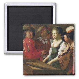 Concierto, 1626 imán cuadrado