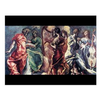 Concierto angelical de El Greco (Theotokopoulos) Postal
