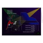 Concierto C.Card del piano Felicitacion