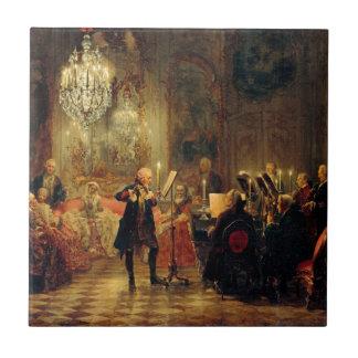 Concierto de la flauta con Frederick el grande Azulejo