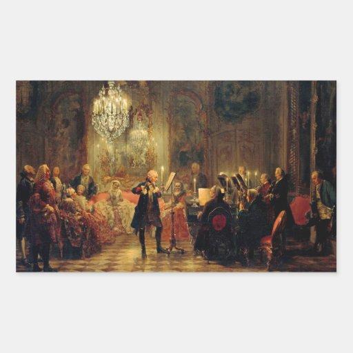 Concierto de la flauta con Frederick el grande Rectangular Altavoces