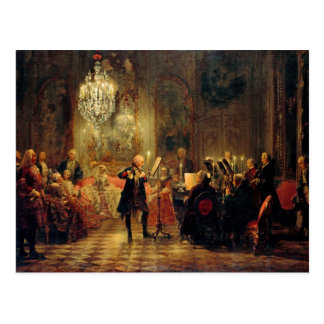 Concierto de la flauta con Frederick el grande Postal