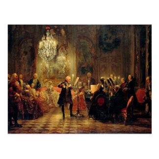 Concierto de la flauta con Frederick el grande Tarjeta Postal