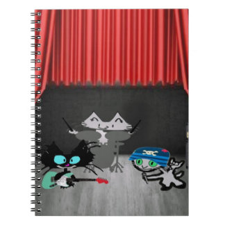 Concierto de los gatos de la estrella del rock libro de apuntes