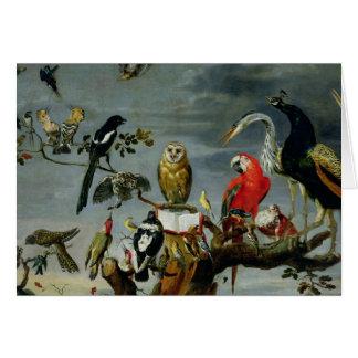 Concierto de pájaros tarjeta de felicitación