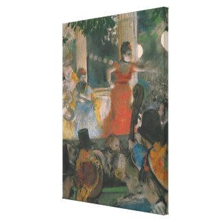 Concierto del café en Les Ambassadeurs, 1876-77 Impresiones En Lona
