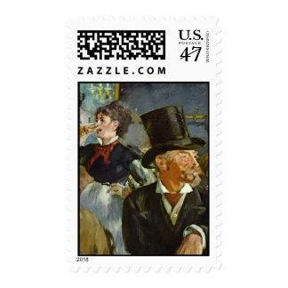 Concierto del café timbre postal