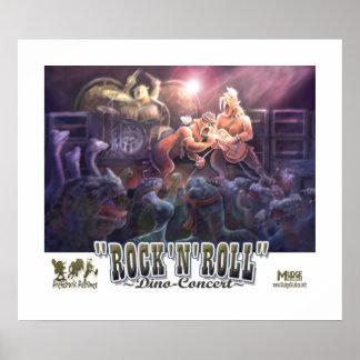 Concierto del dinosaurio del rock-and-roll póster