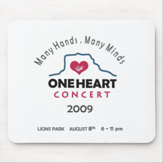 concierto del oneheart mouse pads