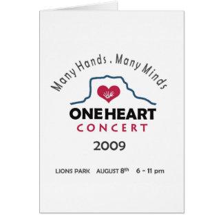 concierto del oneheart tarjeta de felicitación