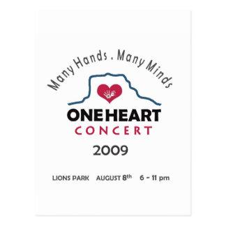 concierto del oneheart tarjetas postales