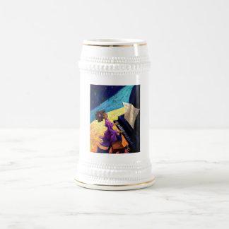 Concierto del piano jarra de cerveza