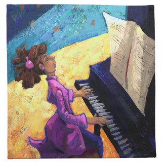 Concierto del piano servilleta de papel