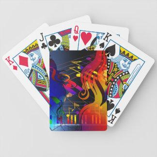 concierto del sonido del clef agudo de la música baraja de cartas