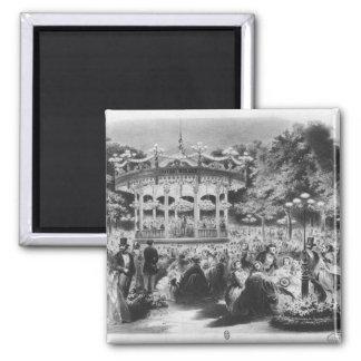 Concierto en el Champs-Elysees, 1865 de Musard Imán Cuadrado