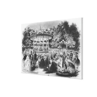 Concierto en el Champs-Elysees, 1865 de Musard Impresiones En Lona Estiradas