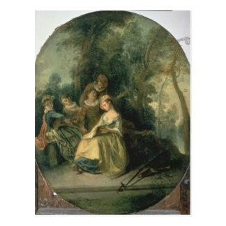 Concierto en el parque, 1725 tarjeta postal